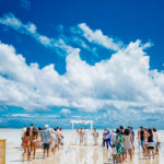 Wedding on Kaneohe sandbar, Oahu.